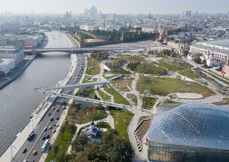 Cảnh quan công viên Zaryadye ở Nga