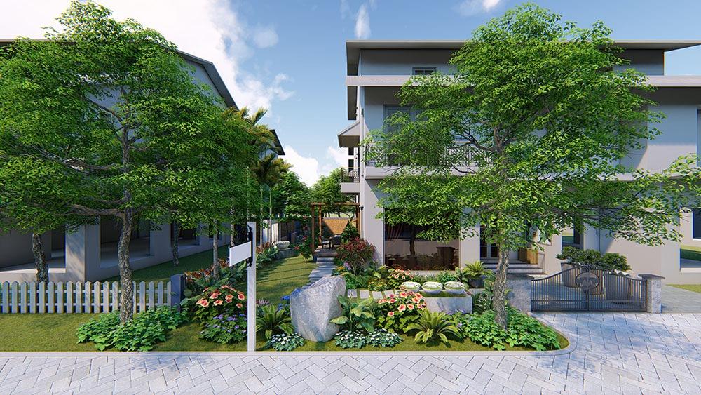 Thiết kế sân vườn dành riêng cho khu đô thị Ecopark