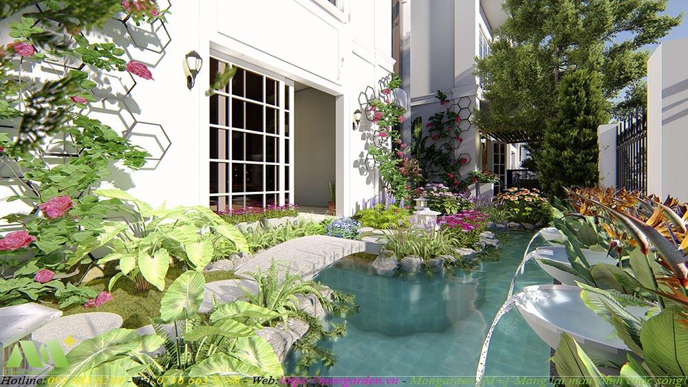 Phương án thiết kế sân vườn chị Phương khu Embassy Garden