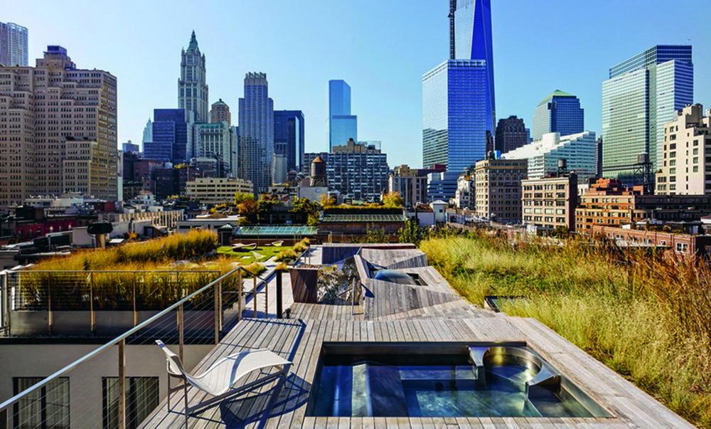 Vườn trên mái Tribeca Penhouse tại New York