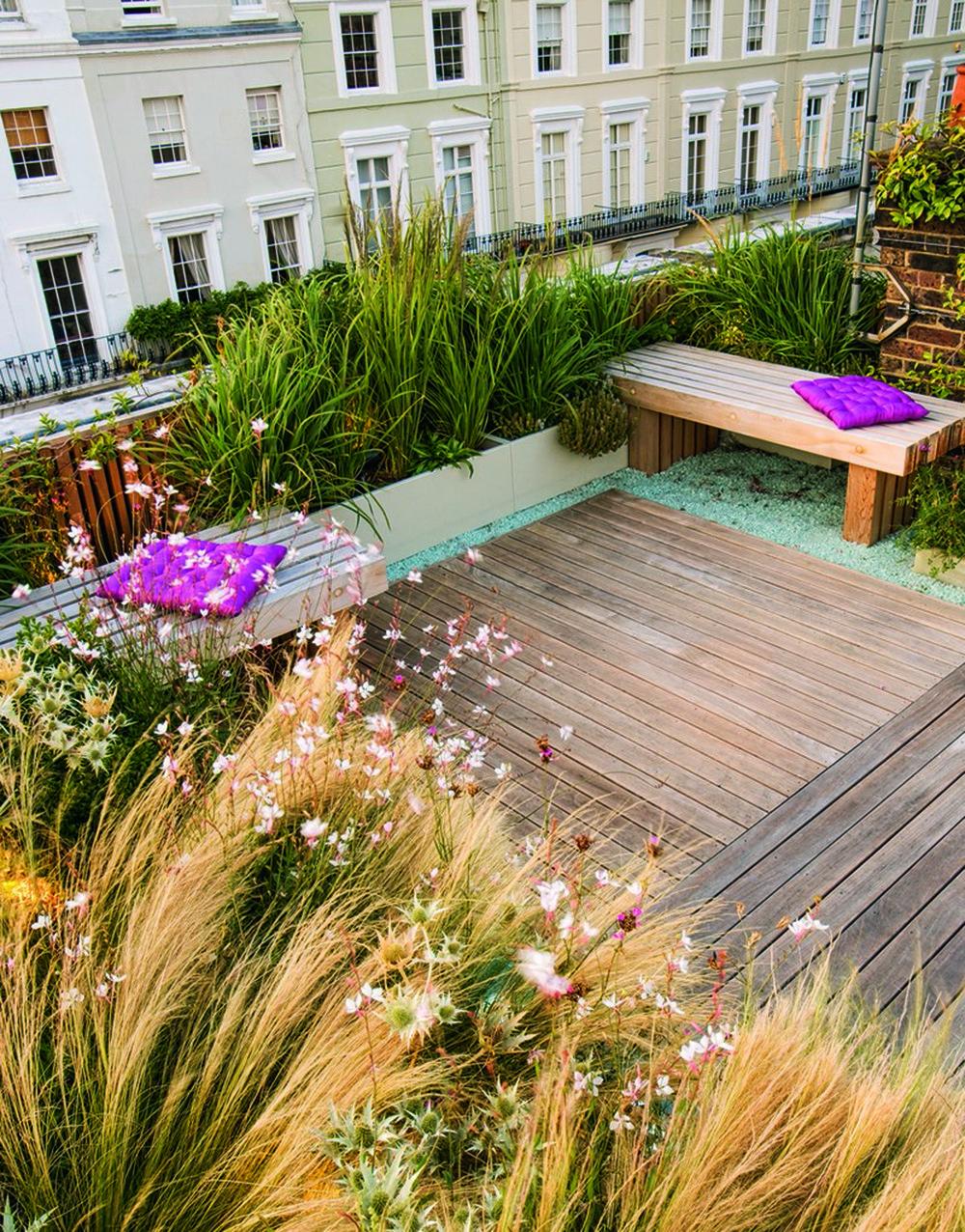 Vườn trên mái ở Holland Park, London