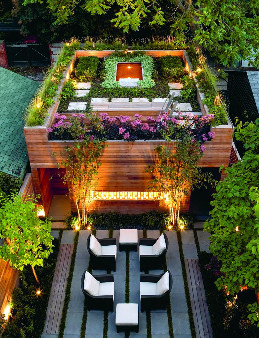 Sân vườn và vườn trên mái Toronto