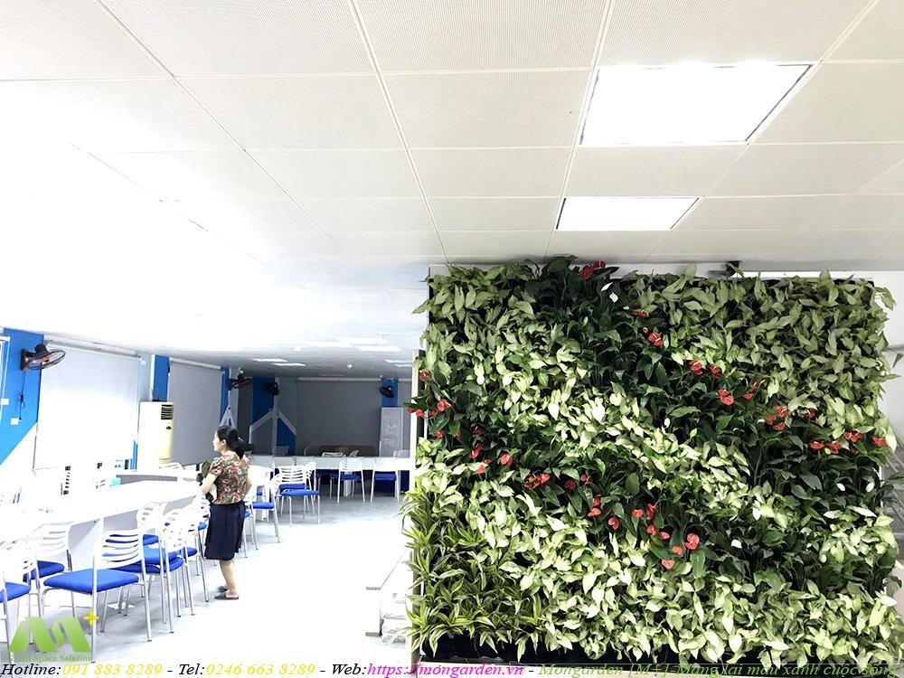 Hoàn thiện tường cây xanh tần 1