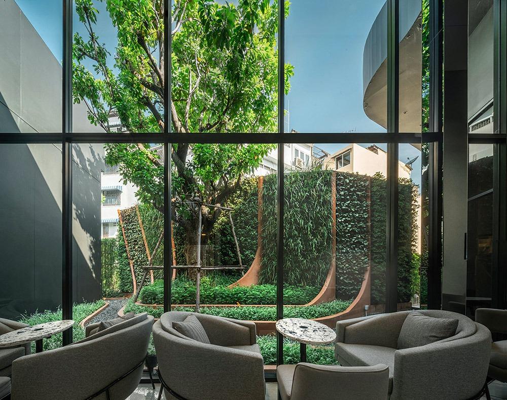 Thiết kế thi công sân vườn cho phòng chờ cực chất - Mongarden