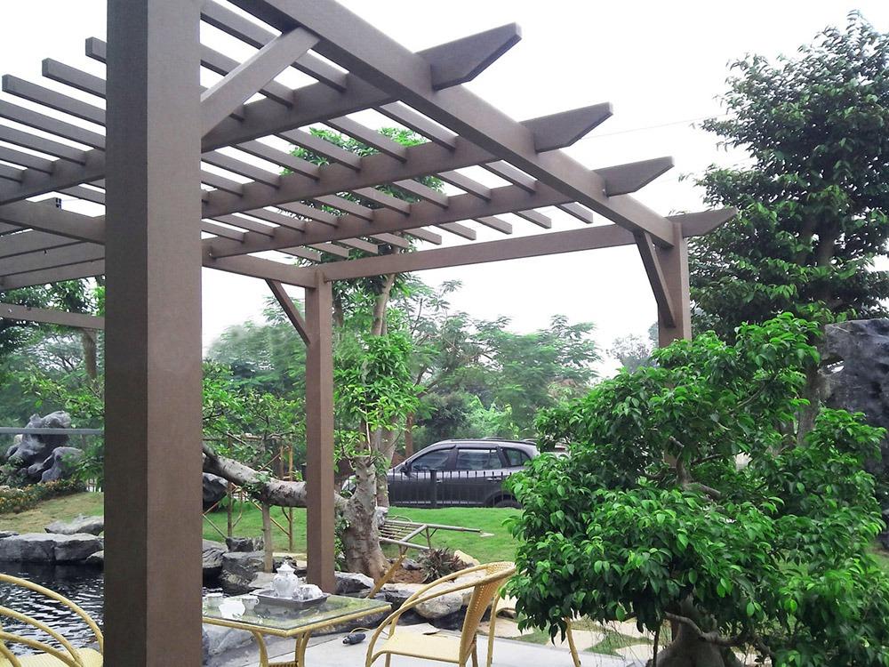 Phòng khách ngoài trời trong thiết kế sân vườn - Mongarden