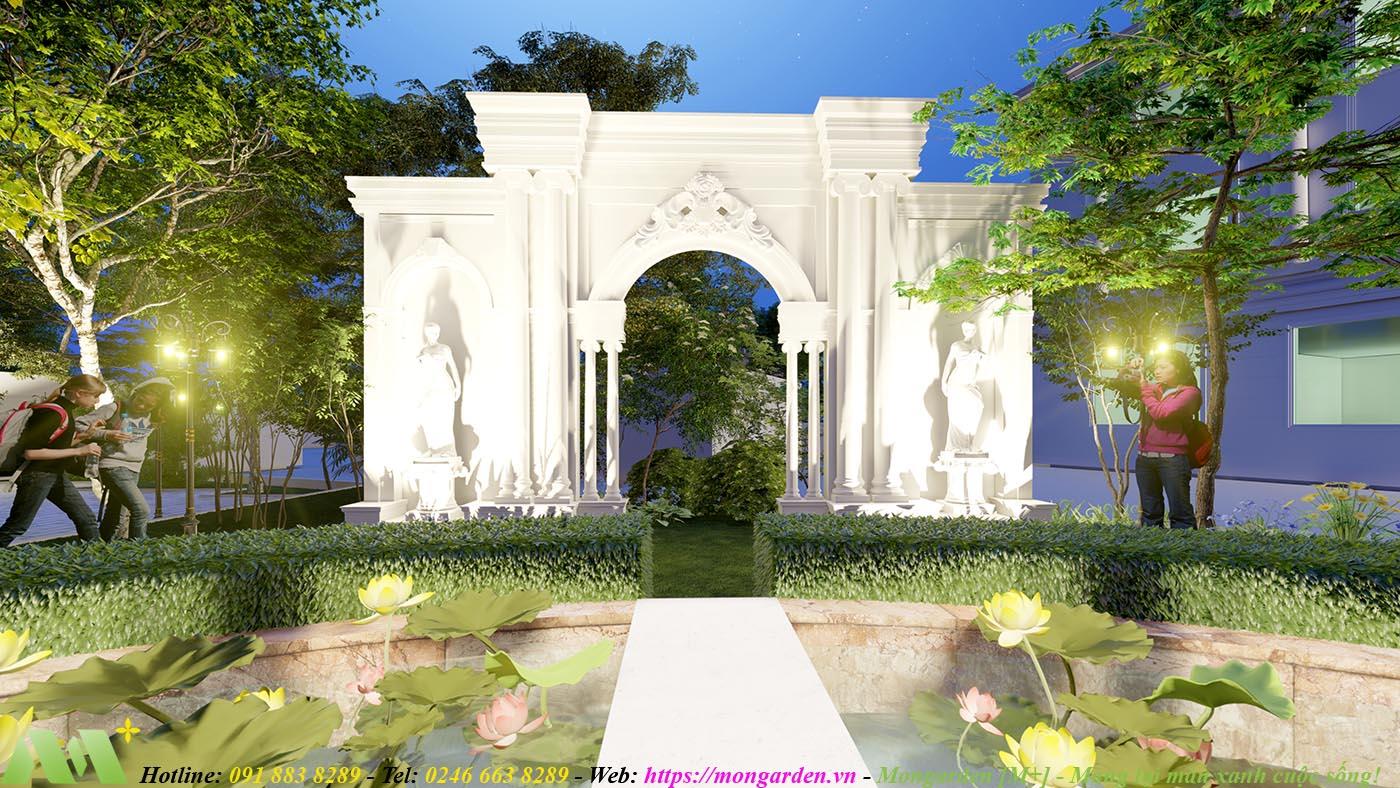 Phương án thiết kế cảnh quan nhà hàng Hương Cảng BANQUYET