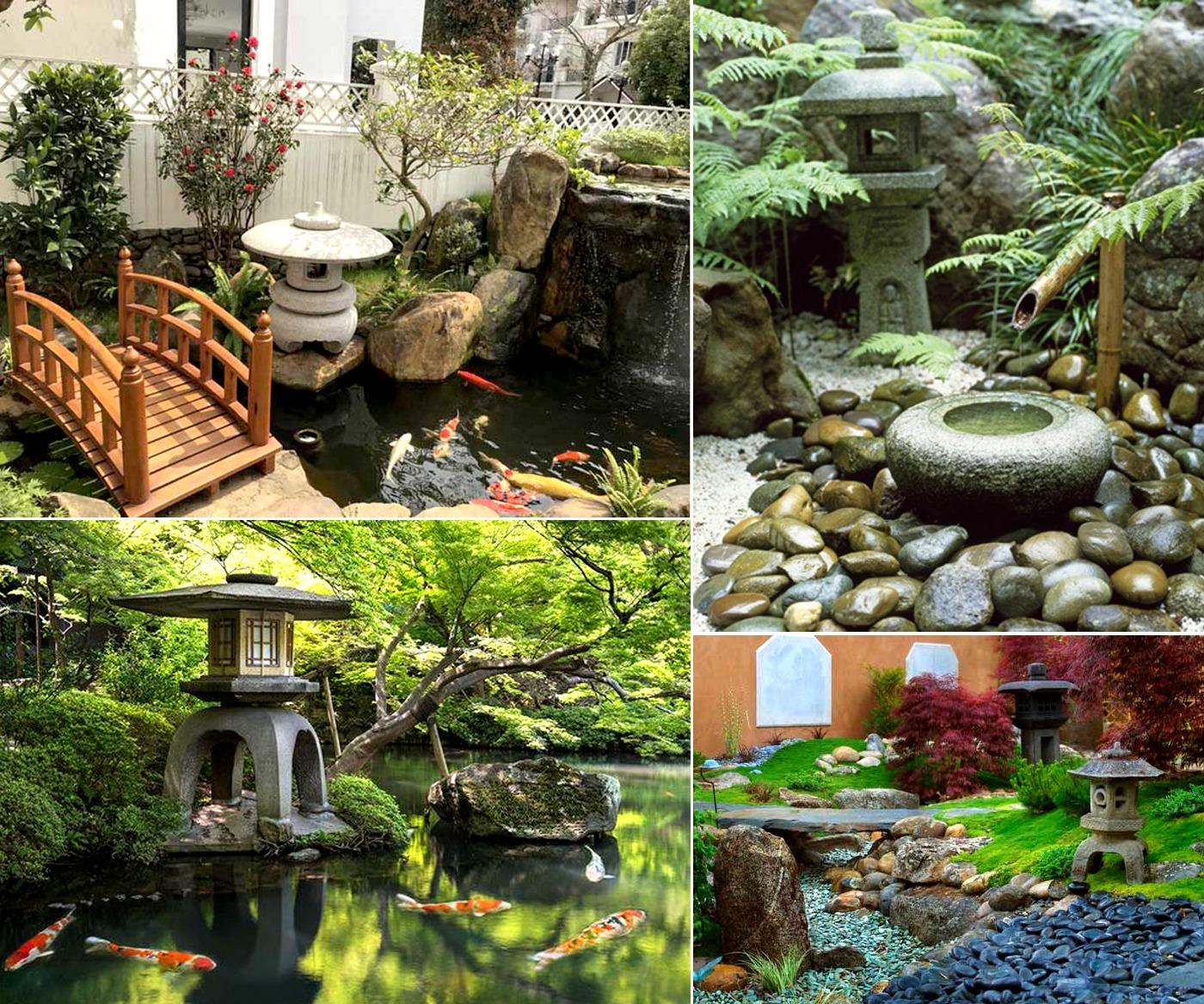 Đèn đá sử dụng trong phong cách sân vườn Nhật Bản