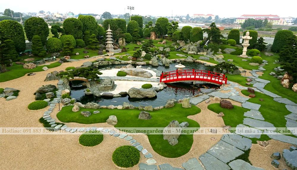 Sân vườn phong cách vườn Nhật Bản