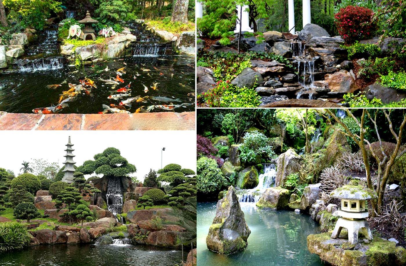 Thác, suối sử dụng trong phong cách sân vườn Nhật Bản