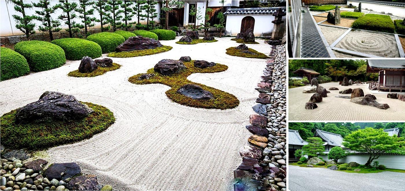 Vườn thiền trong phong cách sân vườn Nhật Bản