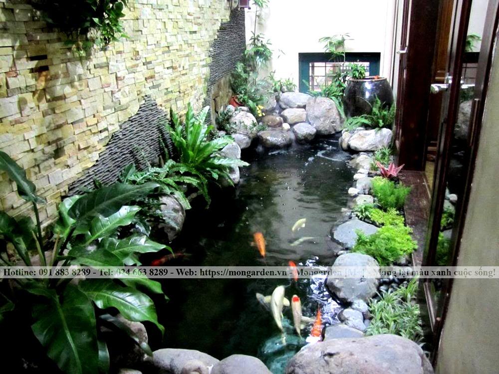 Phong thủy trong thiết kế thi công hồ cá Koi