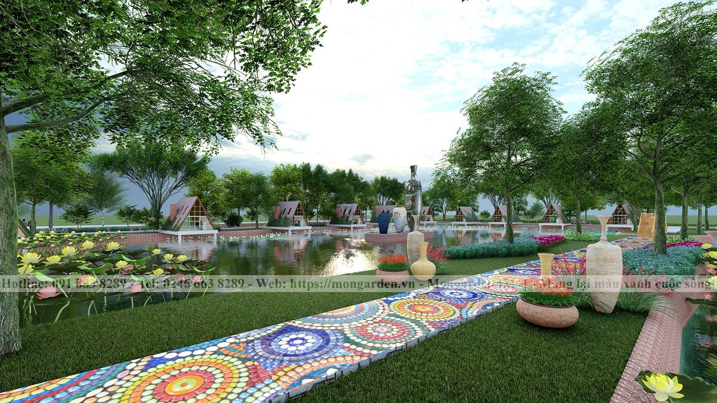 Thiết kế cảnh quan khu du lịch nghỉ dưỡng và trải nghiệm Gốm Sứ Chu Đậu, Hải Dương.