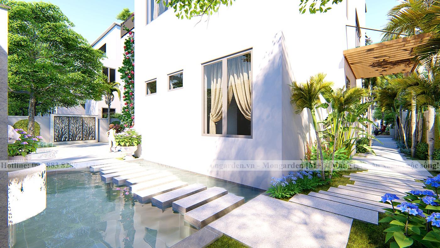Thiết kế sân vườn anh Long khu đô thị Ecopark