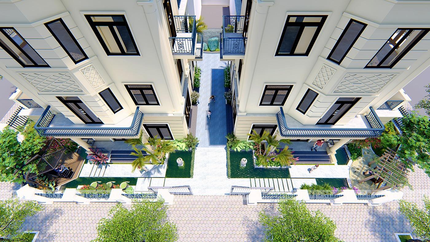 Thiết kế sân vườn anh Long khu đô thị Vinhomes The Harmony