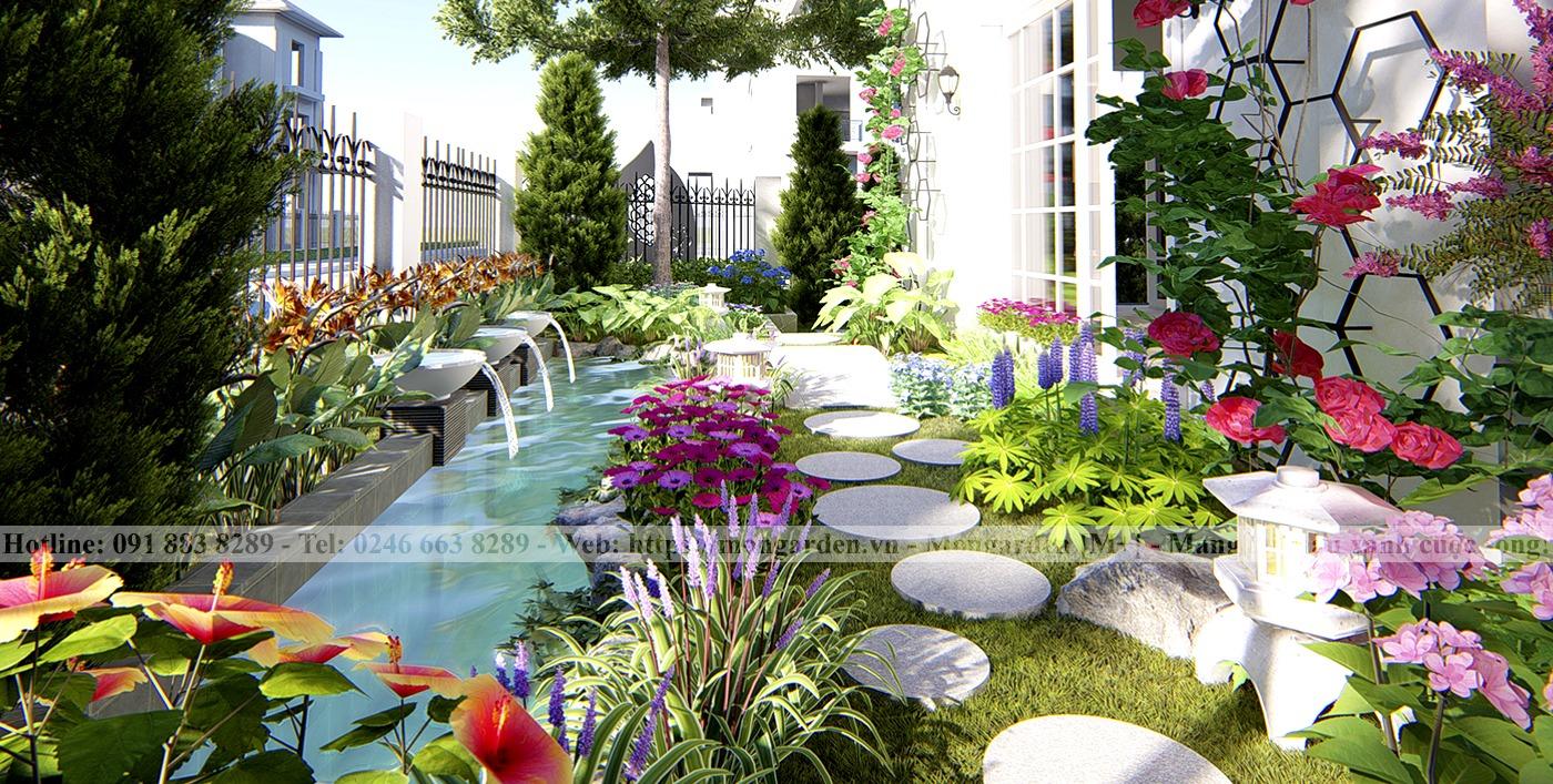 Thiết kế sân vườn chị Phương Embassy Garden