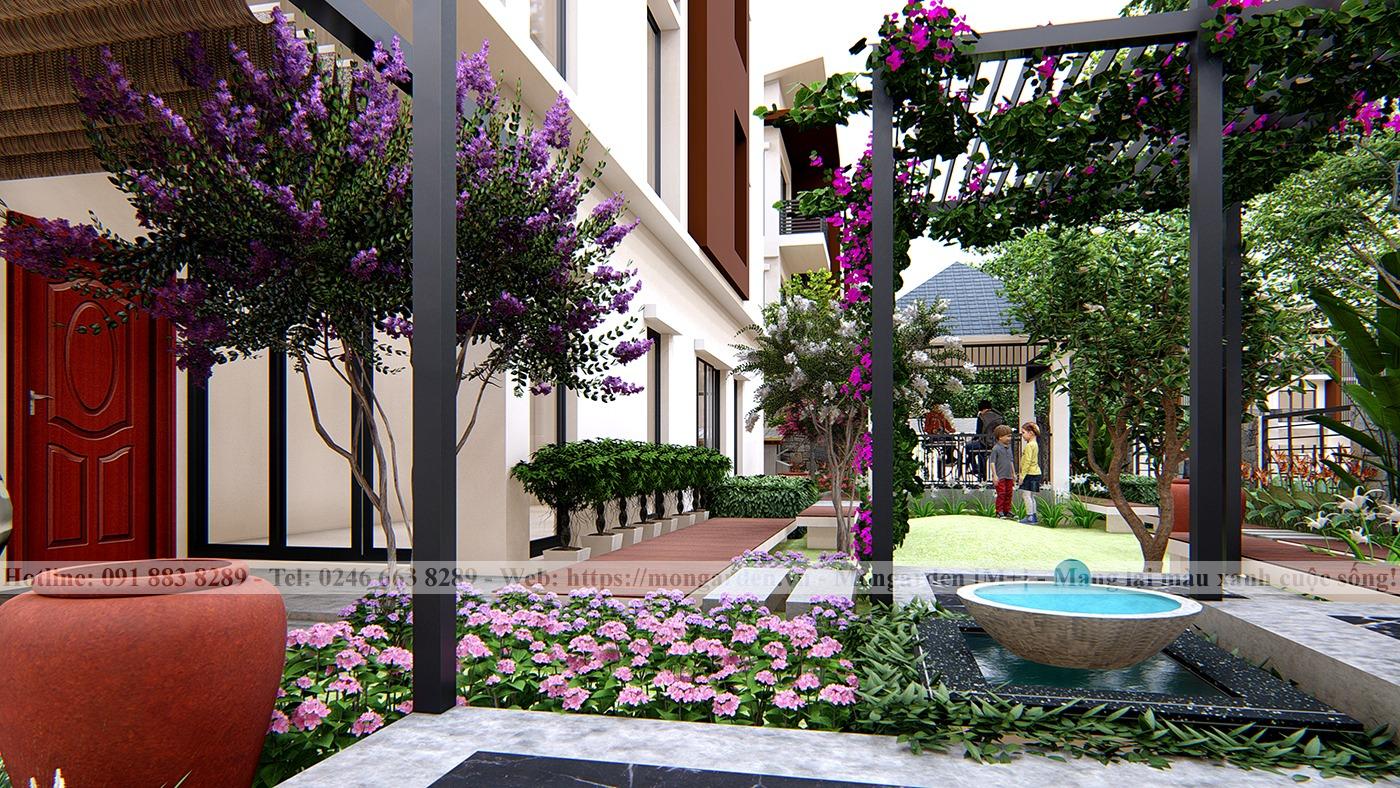 Thiết kế sân vườn chú Lĩnh, Gamuda Garden
