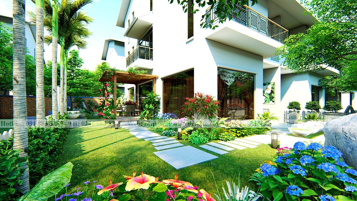 Thiết kế sân vườn anh Hải Ecopark